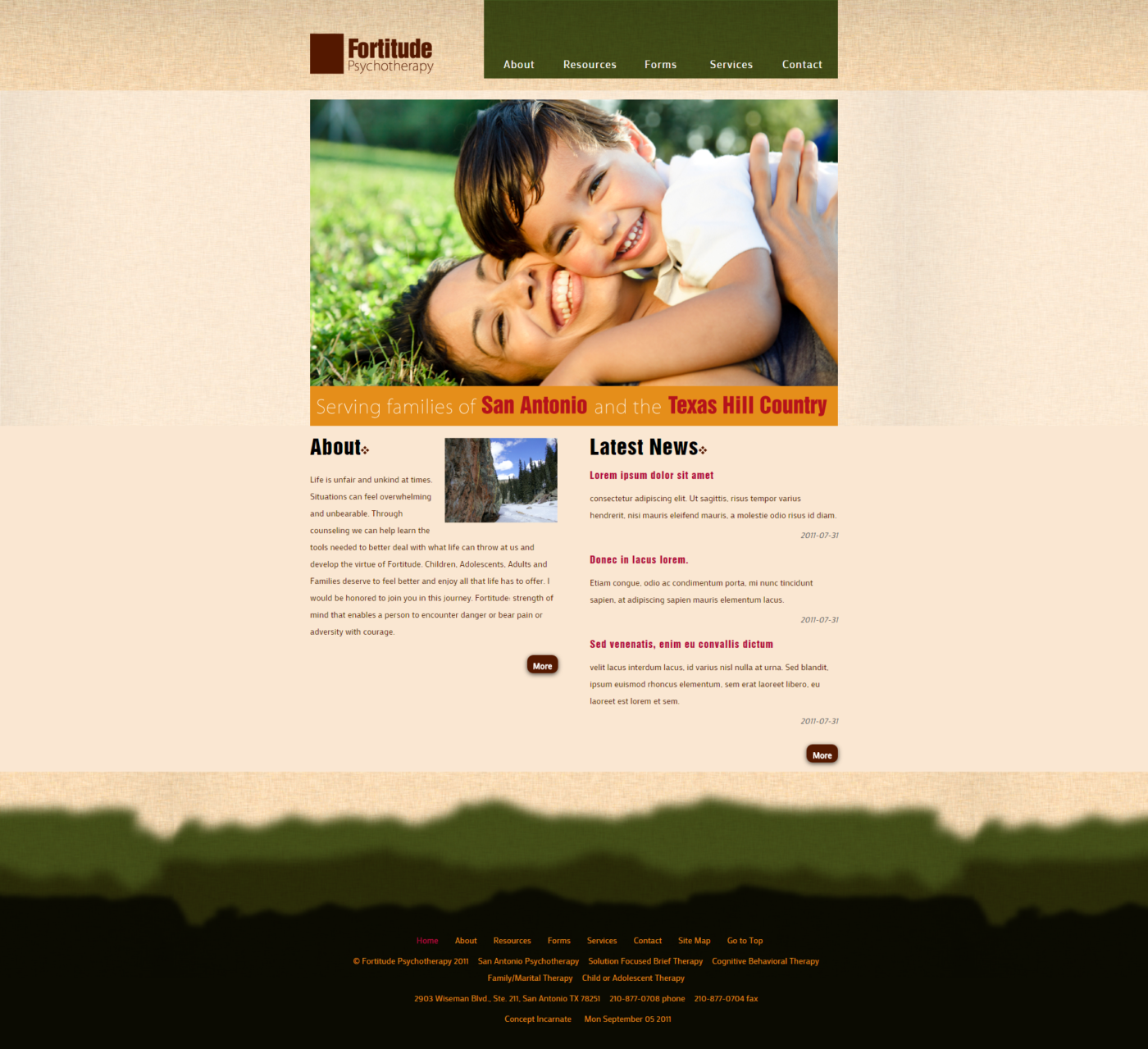 Fortitude Psychotherapy Website Design
