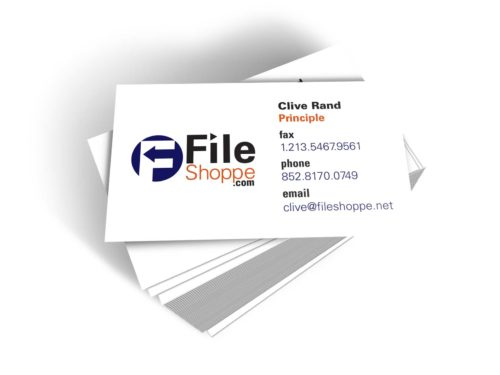 File Shoppe Business Card Front