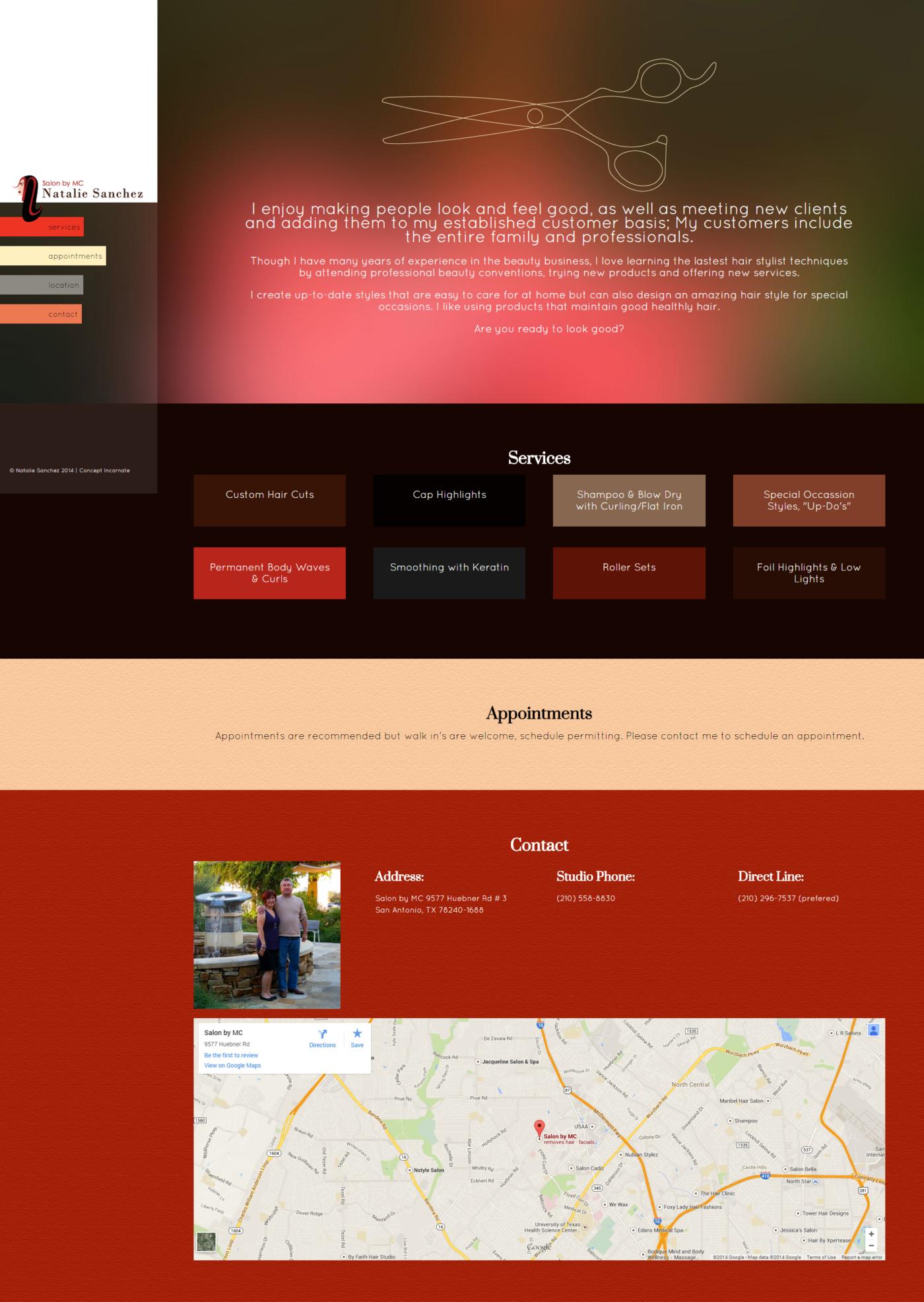 Natalie Sanchez Website