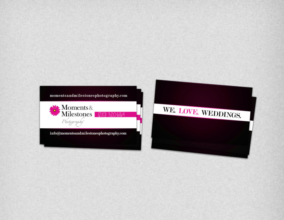 Moments and Milestones Business Cards