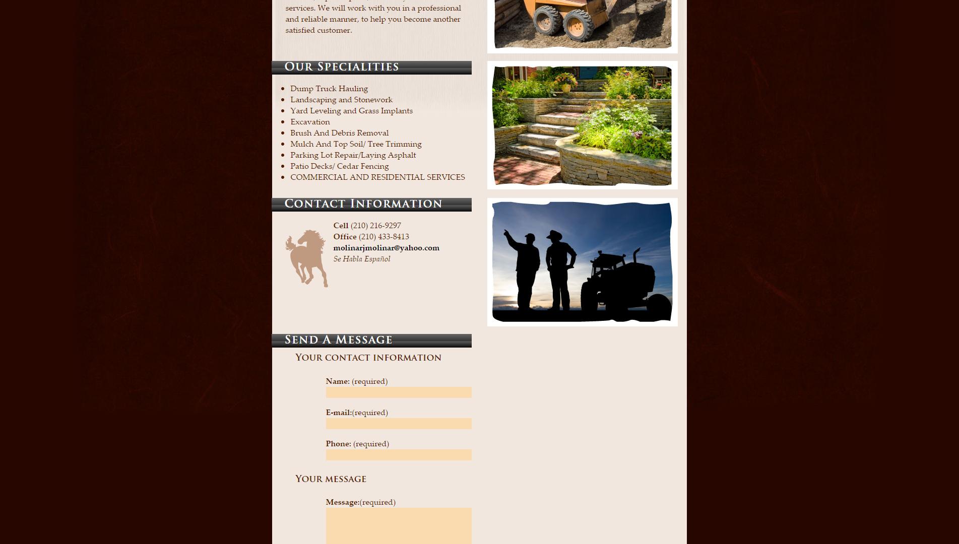 San Antonio Bobcat Services Website