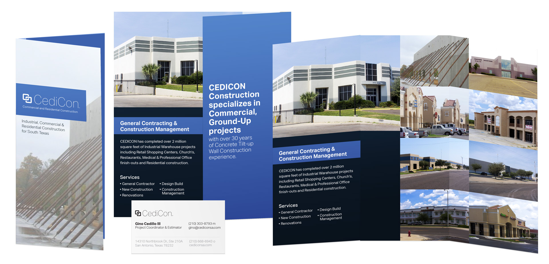 3D rendering of brochures and card.