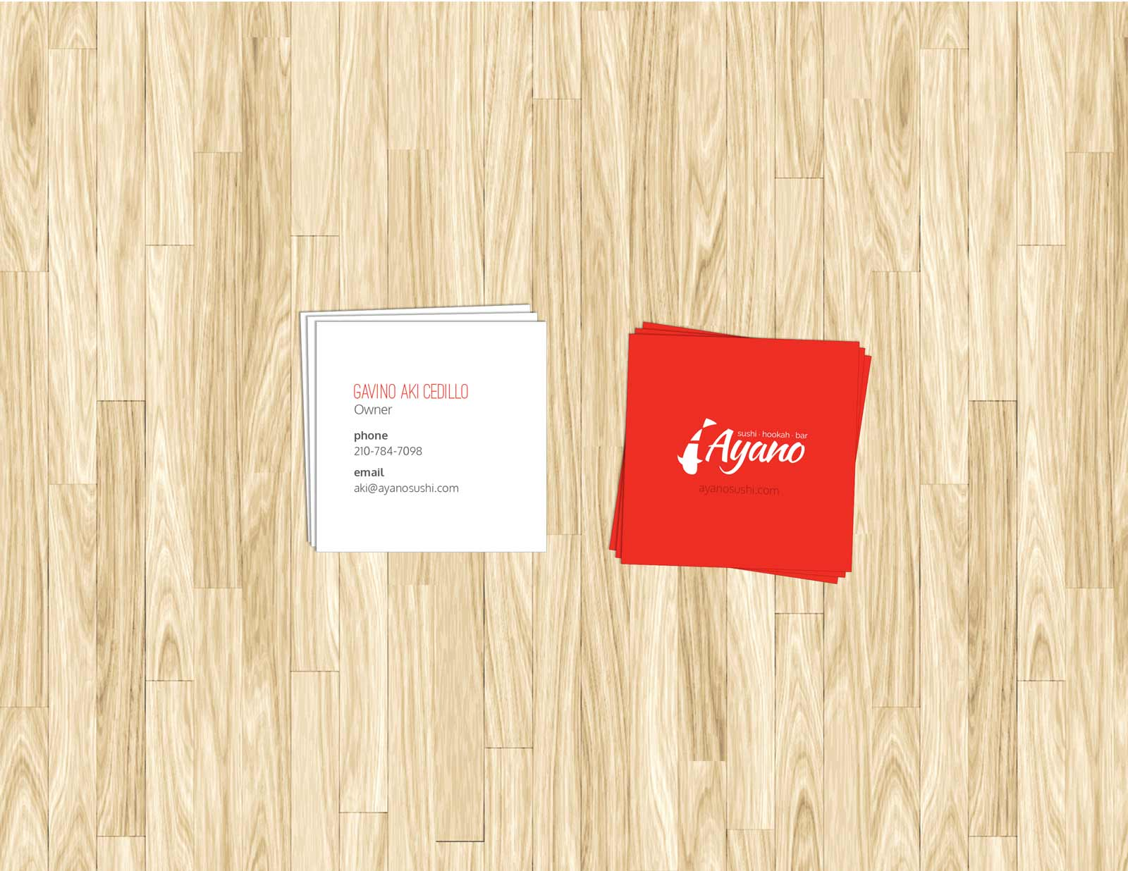 Tips for designing a great business card concept incarnate ayano sushi business cards reheart Choice Image