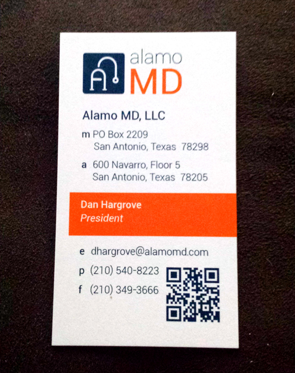 Tips for designing a great business card concept incarnate alamo md business card sm reheart Image collections